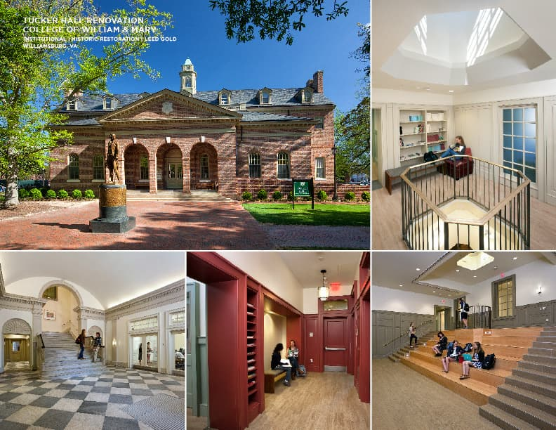 Tucker Hall Renovation at the College of William & Mary