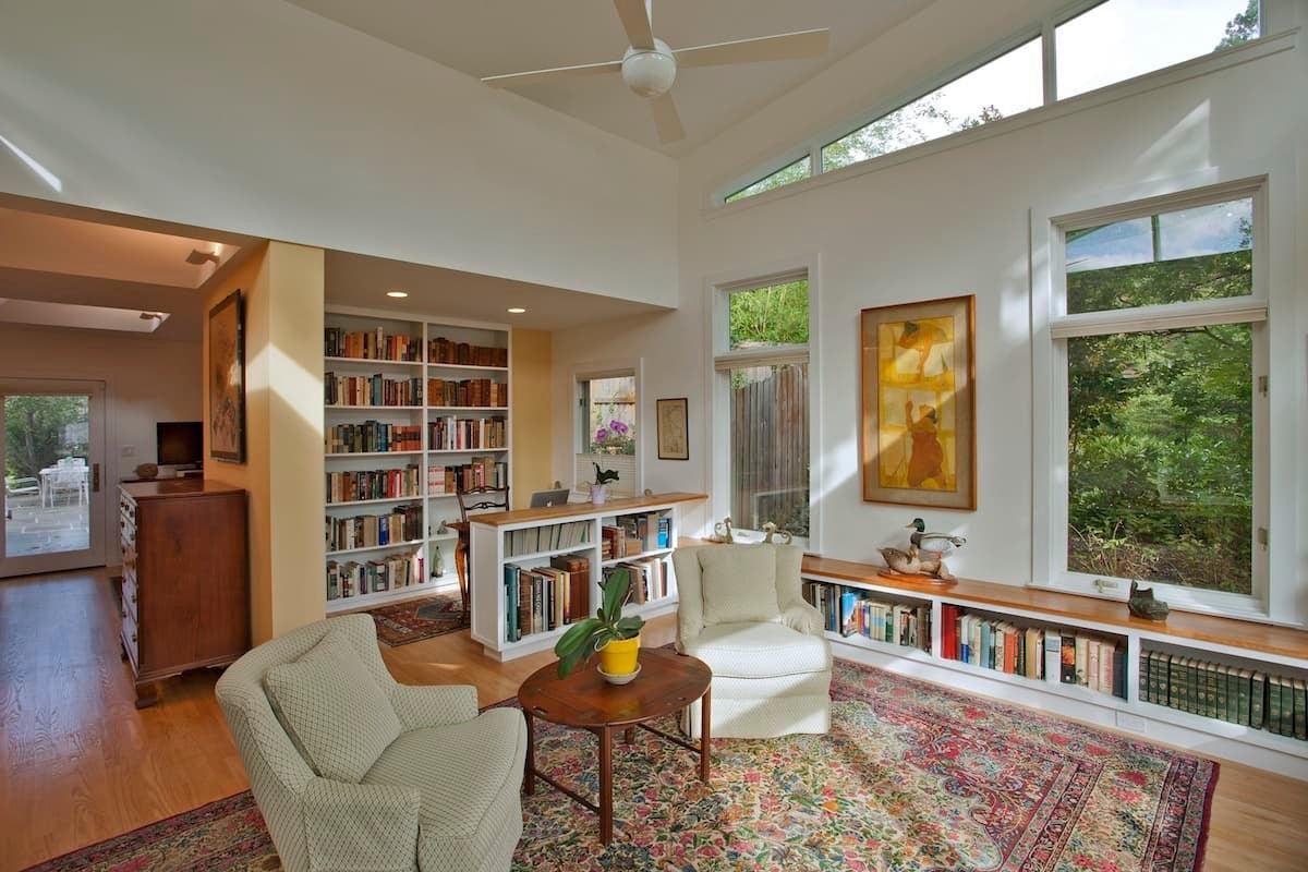 CHECA Architects PC, Living Room Study, Addition, Palisades, Washington, DC