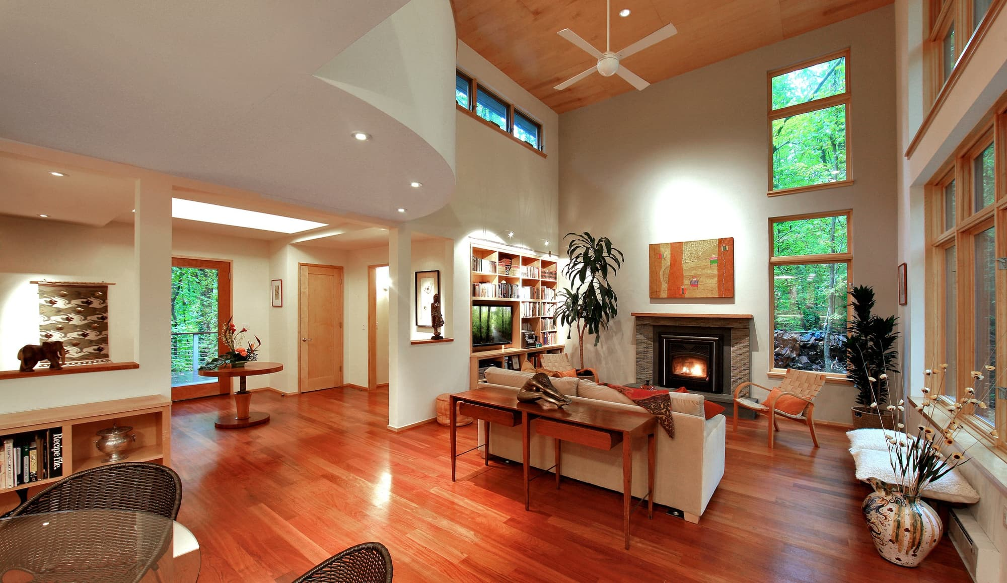 CHECA Architects PC, Living Room, New Construction, Great Falls, VA