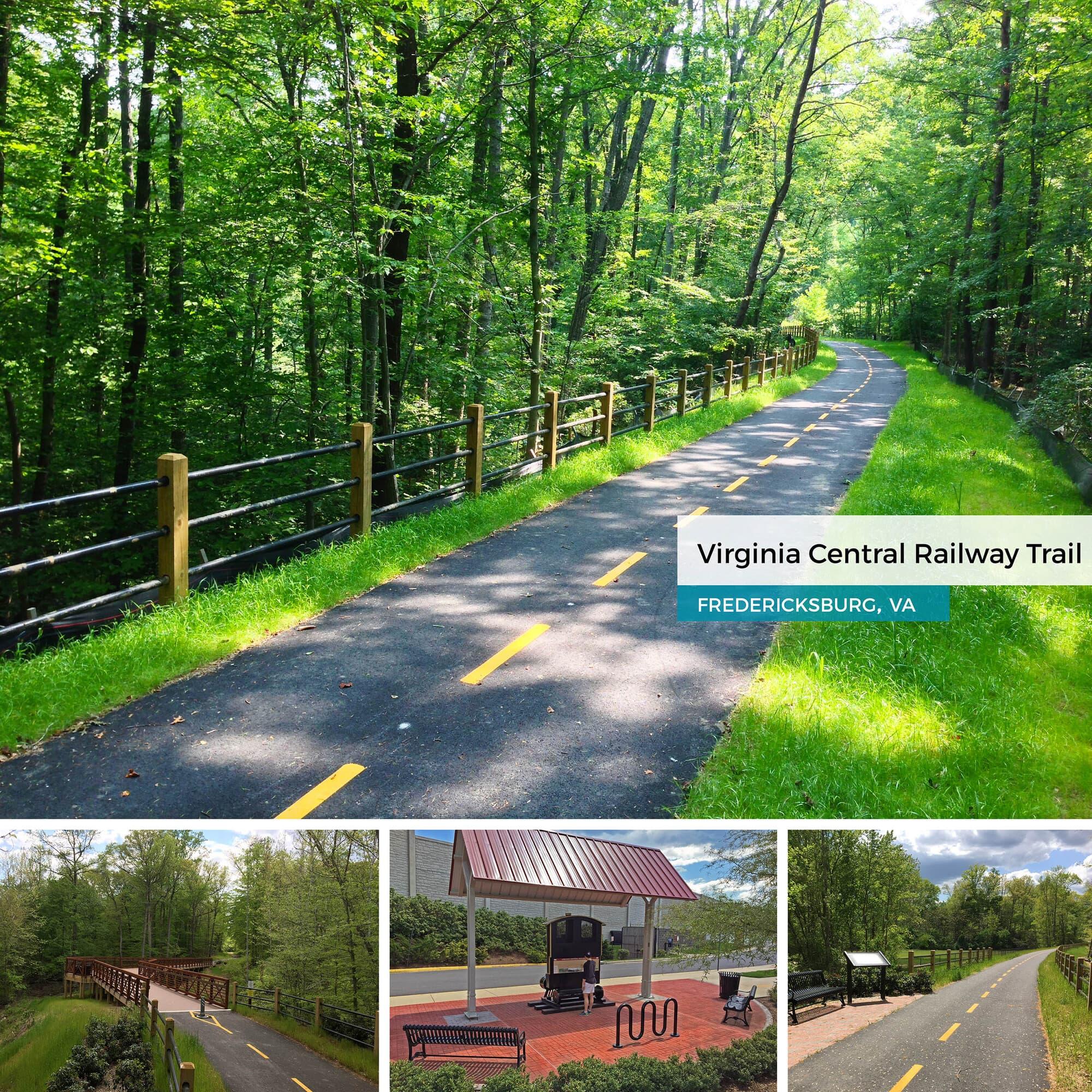 Virginia Central Railway Trail in Fredericksburg, VA