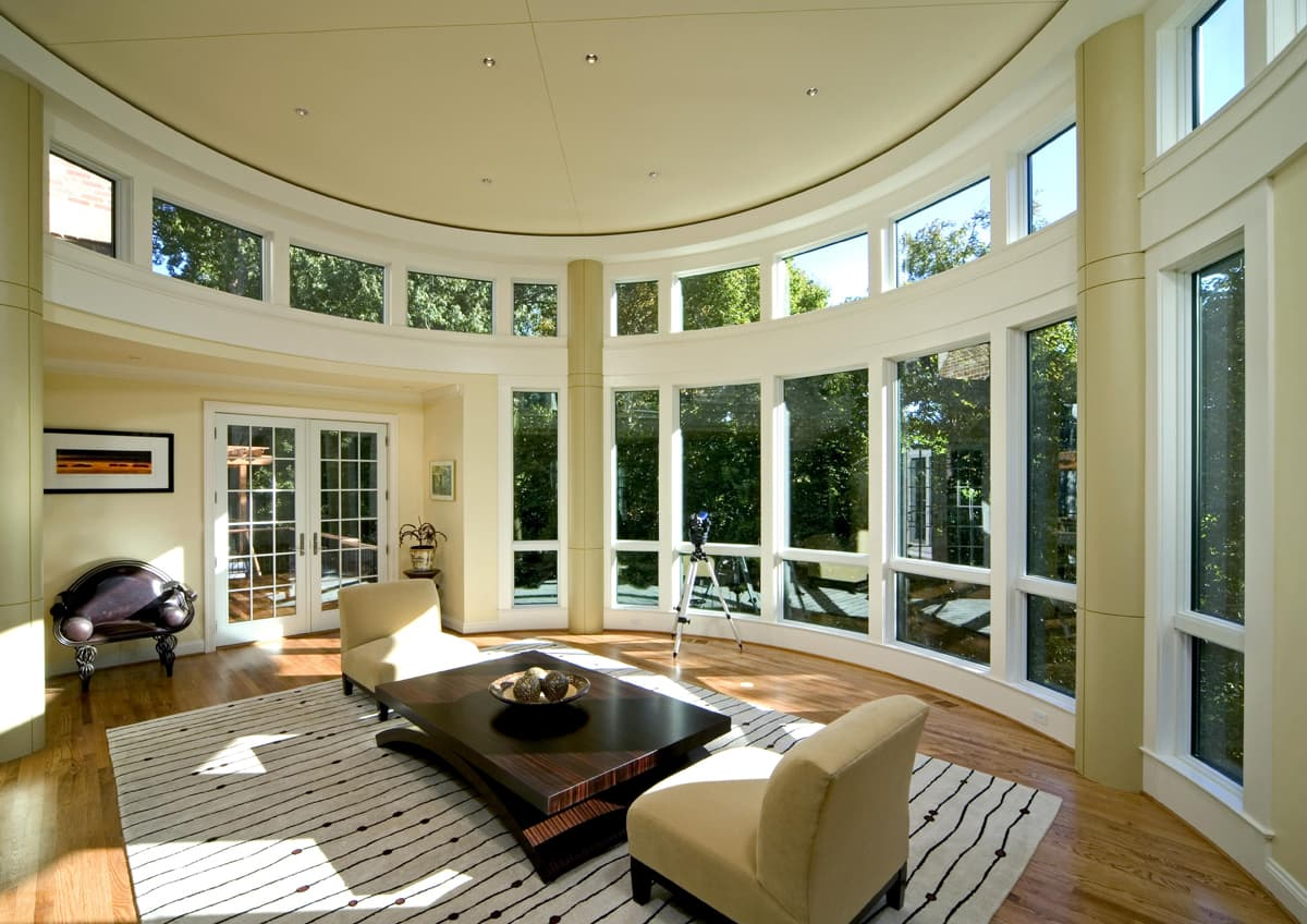 A round room with expansive views and perfect acoustics.