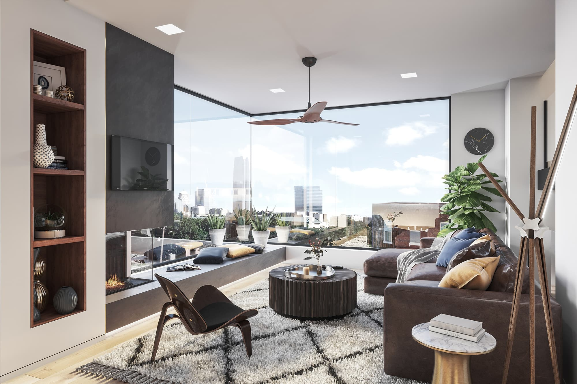 Open living room at Townhomes