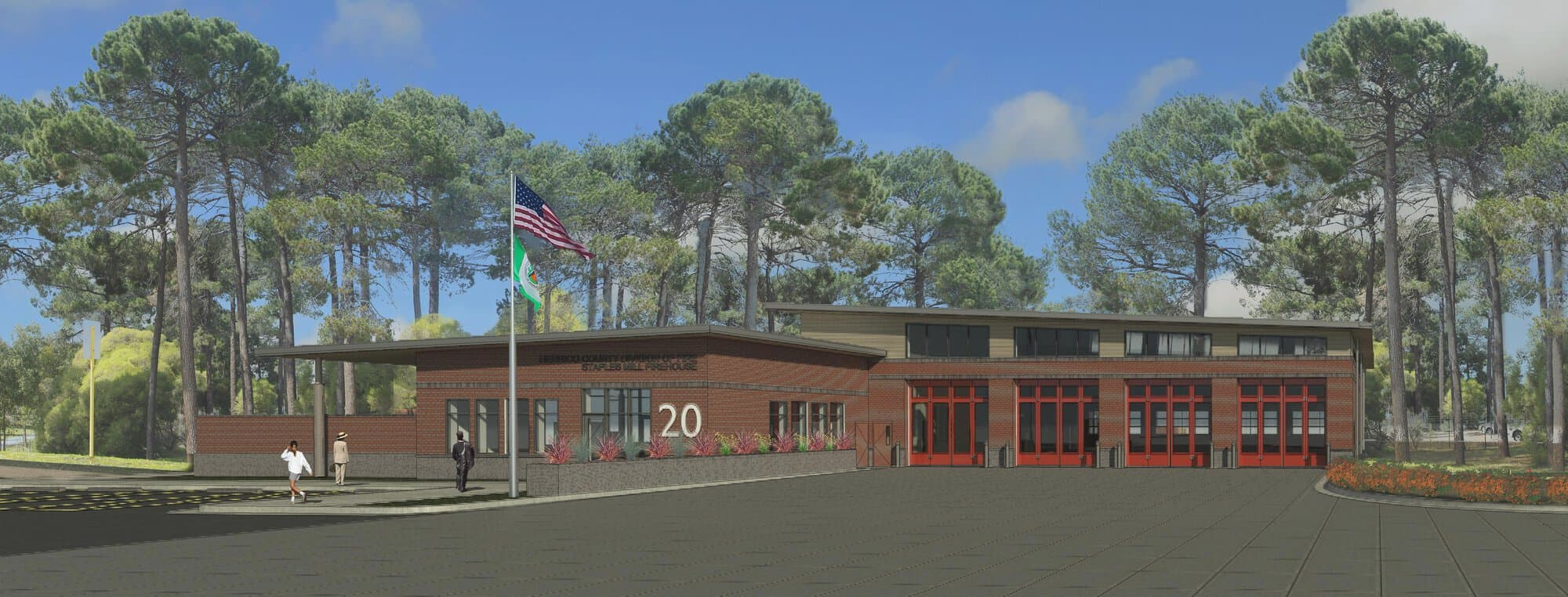 BKV Group was selected to design Fire House 20 – Staples Mill. The new station is similar to the Short Pump station but some elements will be adjusted, based on the results of a post-occupancy evaluation and survey of the firefighters.